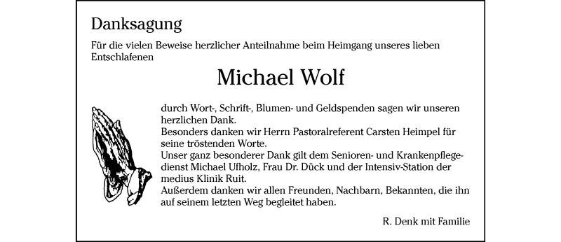 Anzeige von  Michael Wolf